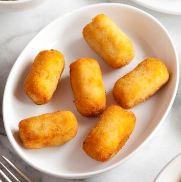 Chicken Croquettes for the Country Cooking of Spain cookbook (Chronicle). Photo by Kevin J. Miyazaki